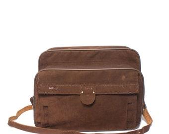 Hartmann Travel Bag Brown Weekender Luggage Overnight Bag