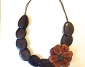 Tagua Flower Necklace/ Tagua Jewerly/ Statement Necklace/ Valentine's Day Gift