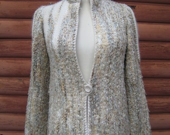Vintage Angora Hand Loomed Sweater by Jessica Knits