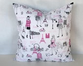 Paris Decorative Pillow Cover, 18x18 Throw Pillow, Pillow cover