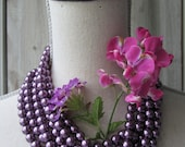 Vintage Plum Purple Glass Pearl