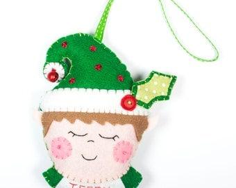 Christmas Elf felt decoration