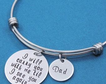 Personalized Jewelry - Personalized Bangle Bracelet -  Custom Jewelry - Hand Stamped Bracelet