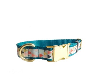 Triangle Print Dog Collar, Not Personalized