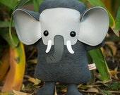 Elephant stuffed animal, Elephant plush stuffy doll, Cute elephant toy, cuddly plushie, Kawaii elephant, nursery room decor, kids gift baby
