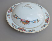 TK Thuny Czechoslovakia Floral Butter Dish with lid