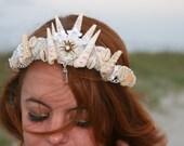 Nerida Crown, mermaid crown, seashell crown, mermaid tiara, mermaid headpieces, music festival headpiece, mermaid headdress