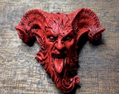 Krampus 3 Magnet, Red