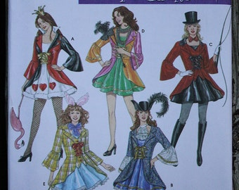 Simplicity 3685 Cosplay Halloween Costume Alice in Wonderland Masquerade Vintage Sewing Pattern Size 6-8-10-12 Bust 30.5-31.5-32.5-34