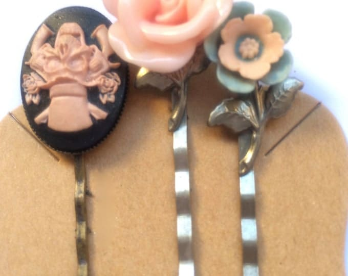 Hair Pins, Hair Clips, Hair Barrettes, Flower Hair Clips, Bobby Pins
