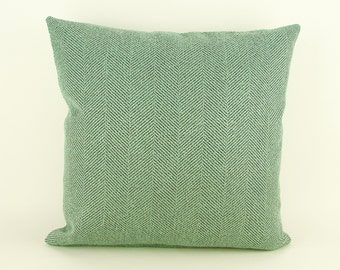 "16"" x 16"" Pillow Cover Seafoam Green Knife Edge"
