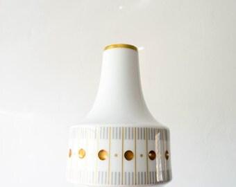 Heinrich Mid Century Gold White Grey Gemmo Vase // 1950s Home Decor