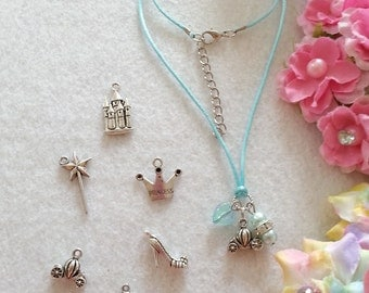 10 Cinderella Necklaces Party favors