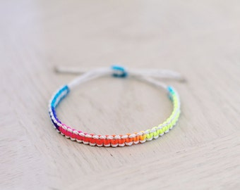 Natural Neon Cord Hemp Bracelet - Hemp Jewelry