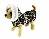 Leopard Dog Coat -  Fleece Coat For Your Dog - Two Layer Thermal  Coat For Your Pet - Leopard Burrito  Wrap™ Coat for Dogs