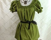 """Cora Chemise in Ivy Cotton - Sz. S - Bust 33""""-38"""""""