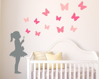 Nursery Wall Decal, Nursery Wall Stickers, Kids Wall Decals, Nursery Decals, Baby Wall Decals, Girls Wall Stickers, Girls Wall Decals