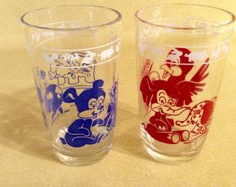 Swanky Swigs Juice Glasses Set of Two Vintage