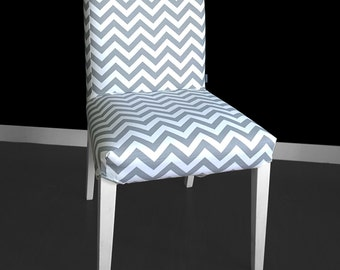 IKEA HENRIKSDAL Dining Chair Cover - Chevron Ash Grey