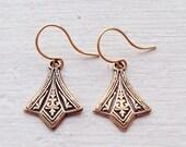 Small Gold Earrings/Boho Earrings/Gold Earrings/Art Deco Earrings/Dainty Earrings/Boho Chic/Small Earrings/Mothers Day Gift/Petite Earrings