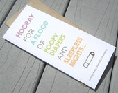 New Baby, Funny Baby Sarcasm Card, Baby Shower Card