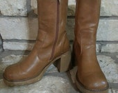 Platform Boots Womans Boots City Snappers 1970s