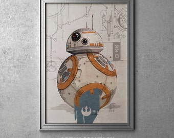 BB-8 - STAR WARS - Episode Vii - The Force Awakens - Bb8 - Droid - Original Art Poster