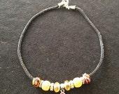 Viking Knit Beaded Necklace