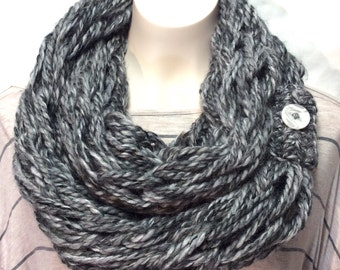 Knitted Cowl, Infinity Scarf, Arm Knit Scarf, Neckwarmer, Neck Warmer, Chunky Scarf, Chunky Cowl