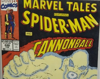 Spiderman and Cannonball 1990 Vintage Marvel Team Up Comic Book McFarlane Boarded