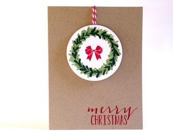 Christmas Card Set - Christmas Cards Boxed Set - Holiday Cards - Christmas Greeting Cards - Christmas Wreath Cards - Merry Christmas Cards