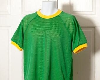Vintage Reversible Jersey Shirt green and yellow