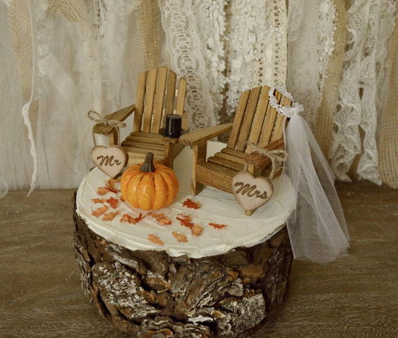fall leaf wedding cake topper fall pumpkin wedding cake topper and groom autumn themed 14147