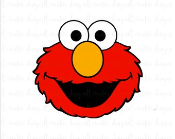 Elmo Svg, Elmo, Sesame Street Svg, Svg Files, Muppets Svg, Silhouette Files, Cricut Files