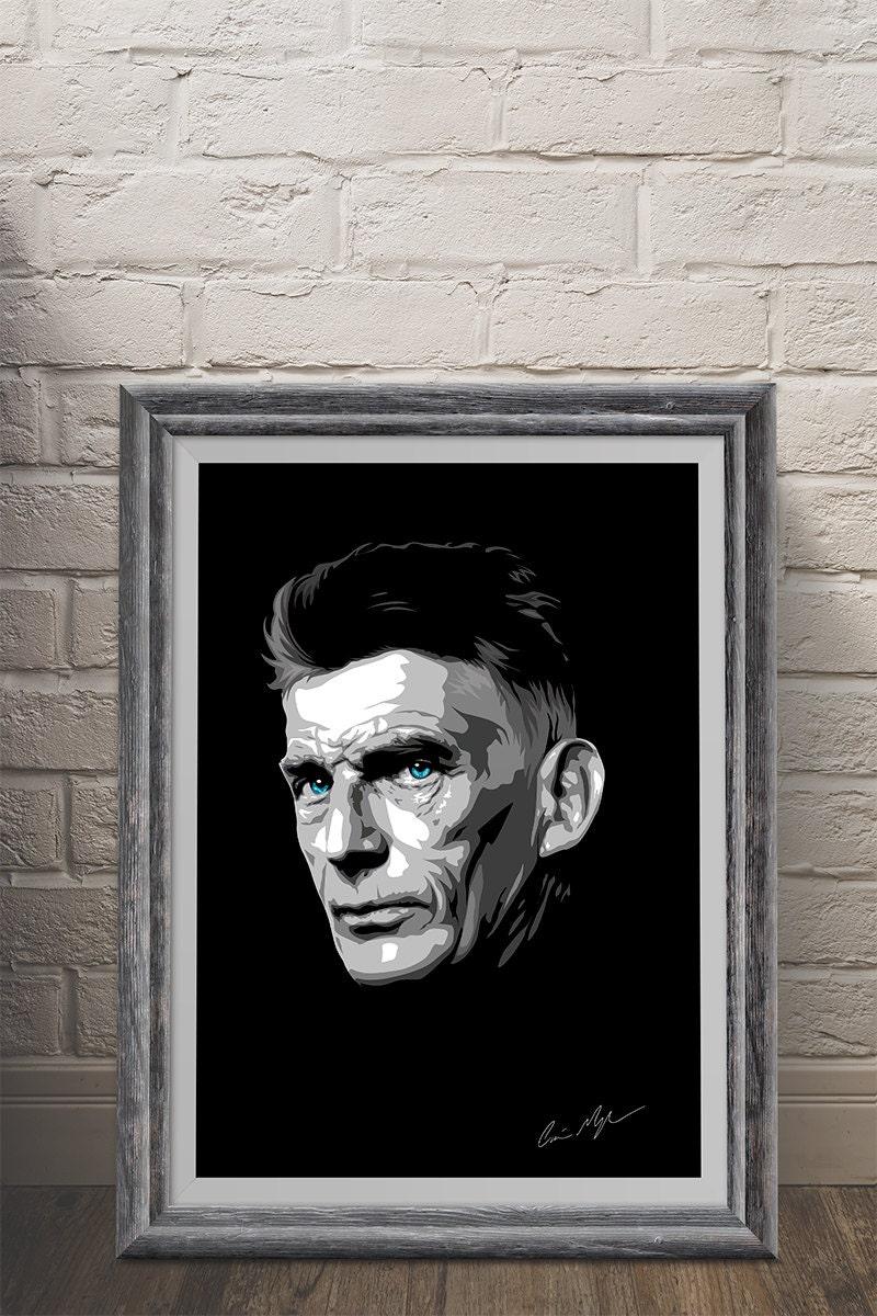 Color printing uw - Samuel Beckett Giclee Art Print A3 Portrait