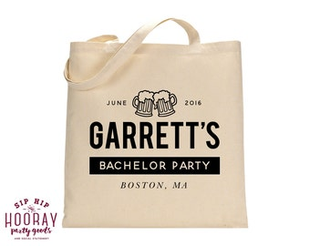 Personalized Tote Bags, Bachelor Party Favors, Custom Tote Bags, Groomsmen Gifts, Bachelor Party Favor, Custom Tote Bags, Tote Bags, 1410