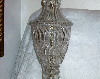 Vintage Cut Crystal & Brass Electric Table Lamp Only 28 USD