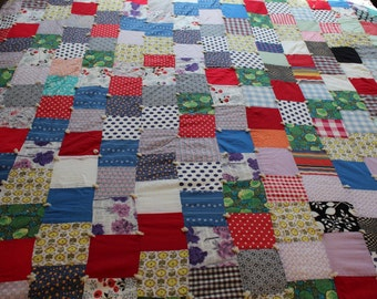 Vintage handemade patchwork  quilt