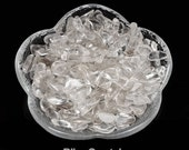 250 Mini Ice CLEAR QUARTZ Tumbled Stones 1/4 lb Parcel Healing Crystal and Stone Small Chips XS Crystals Jewelry Art & Crafts #QM01