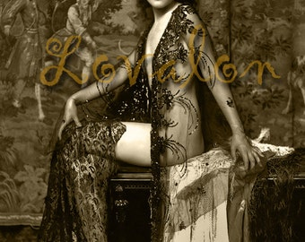 MATURE... Glamour... Deluxe Erotic Art Print... 1920's Vintage Nude Lingerie Photo... Available In Various Sizes
