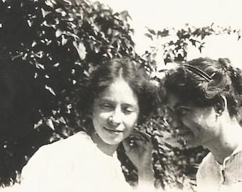 "Vintage Snapshot ""Whisper In My Ear"" Pretty Girl Women Secrets Antique Photo Victorian-Era Dresses"