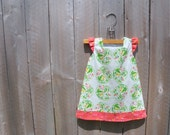 tunic dress - flowers and butterflies