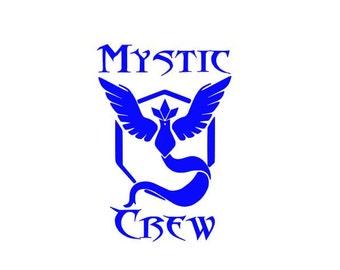 "Pokemon Go Team Mystic Pokemon Go ""Mystic Crew""  car decal electronic decal"