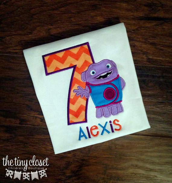Personalized Home Boov Birthday Theme Shirt By TheTinyCloset