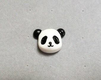 resin panda head, tie tack, lapel pin, hat pin, kawaii pin, stocking stuffer
