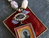 Ambrotype necklace signed...