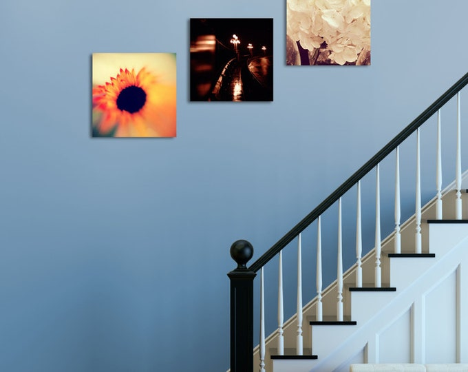 Create a Tryptic, Set of Prints, Square Format Set, Photography Prints, Wall Art, Home Decor, Art Makes a House a Home