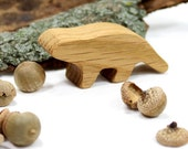 Wooden Groundhog Toy Woodchuck, Woodland Animal, Forest Animal, Handmade Wood Toy