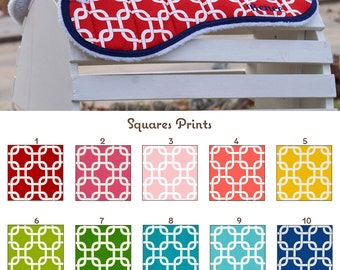 MADE TO ORDER Squares Print Half Pad Many Colors