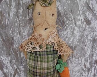 Primitive Easter Bunny Doll Door Hanger